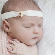 Newborn photo of a baby girl