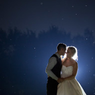 Niagara Wedding photo at night