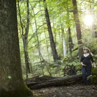 Maternity photos in the woods