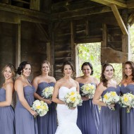 Bridesmaids with bride
