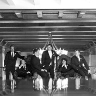 Cool photograph of the groomsment at the Royal York