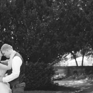 Artistic wedding images of the bride and groom