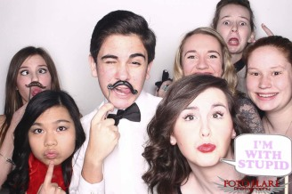 Photo booth image at Notre Dame Catholic School