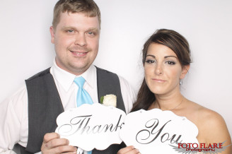 Wedding couple in our FotoBooth