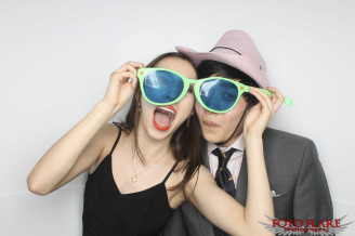 Photo booth image from graduation