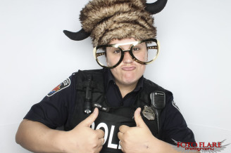 Cool cop using our photo booth