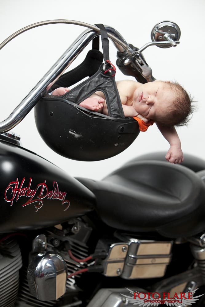 Baby on a Harley