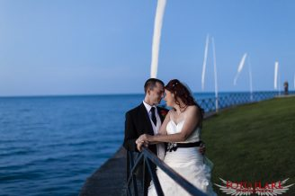 Wedding image at the waterfront