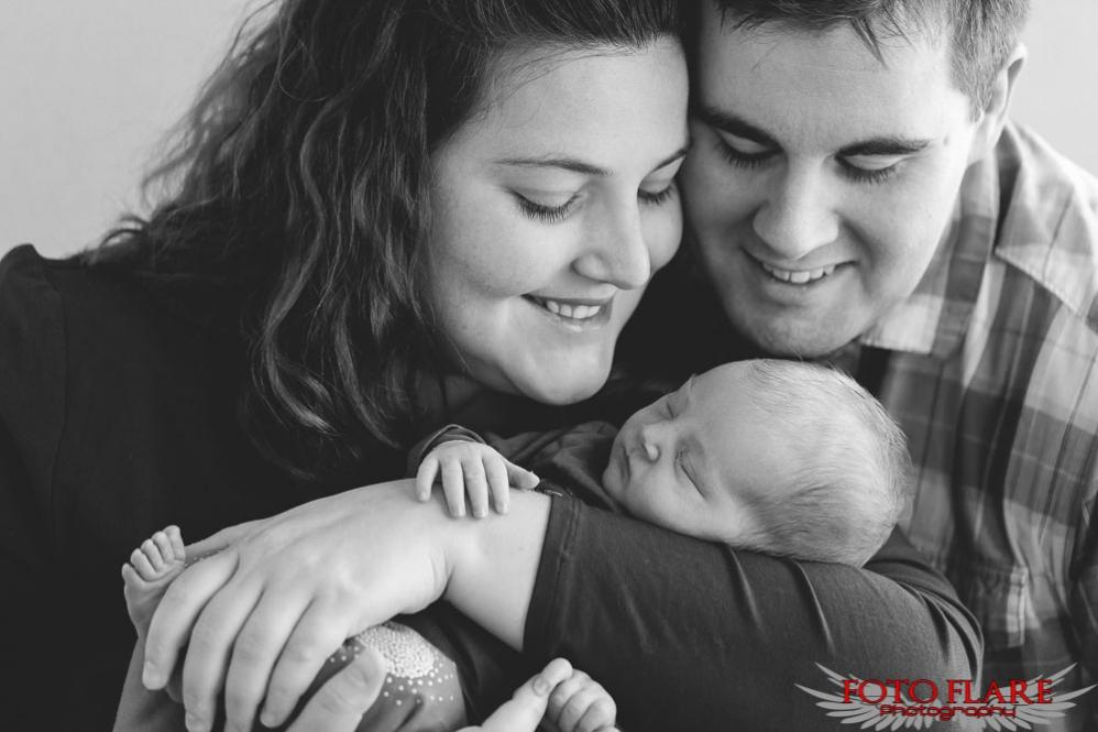 B&W family portrait