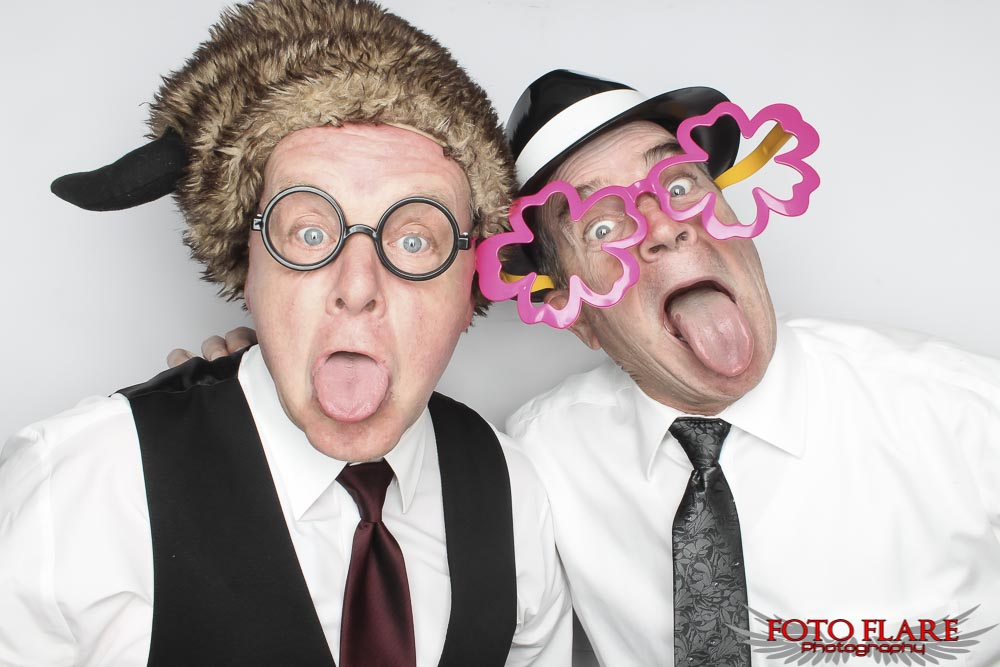 2 guys in a photo booth