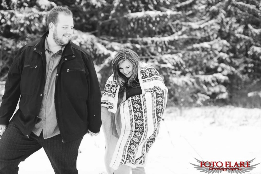 Winter engagement photographs