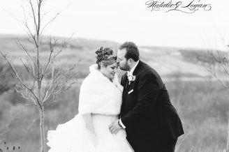 B&W wedding photo in Hamilton Ontario