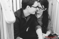 Engagement photos of middle school sweethearts