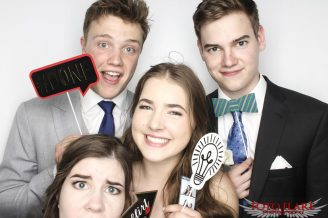 Photo booth images from high school prom