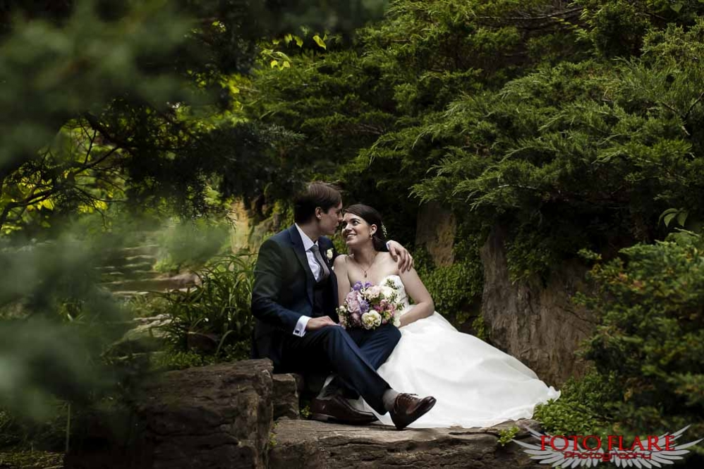 Rock garden wedding photos